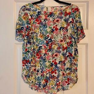 H&M - Floral Short Sleeve Blouse - 6